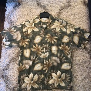 Pierre Cardin Floral Hawaiian Mens Button Shirt